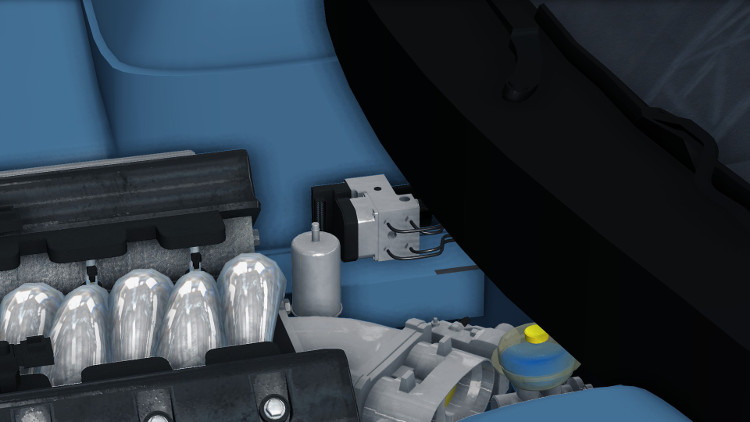 The ABS Pump & Module mounted on a car in Car Mechanic Simulator 2015.