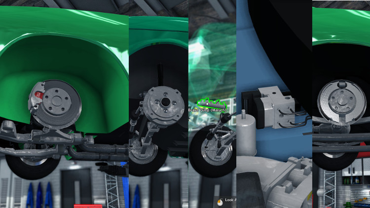 Detailed guide to diagnosing and repairing brake systems in Car Mechanic Simulator 2015.