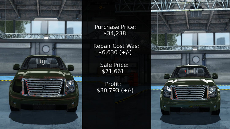 When rebuilding vehicles in Car Mechanic Simulator 2015, it often comes down to cost vs profit. In this case the Castor Earthquake shows its true color.