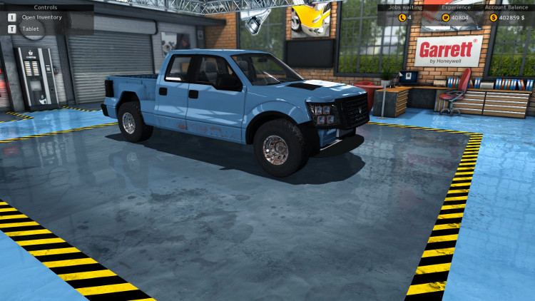 More body damage and missing body parts are visible in this pre-rebuild side view of the Castor Earthquake Rex from Car Mechanic Simulator 2015.
