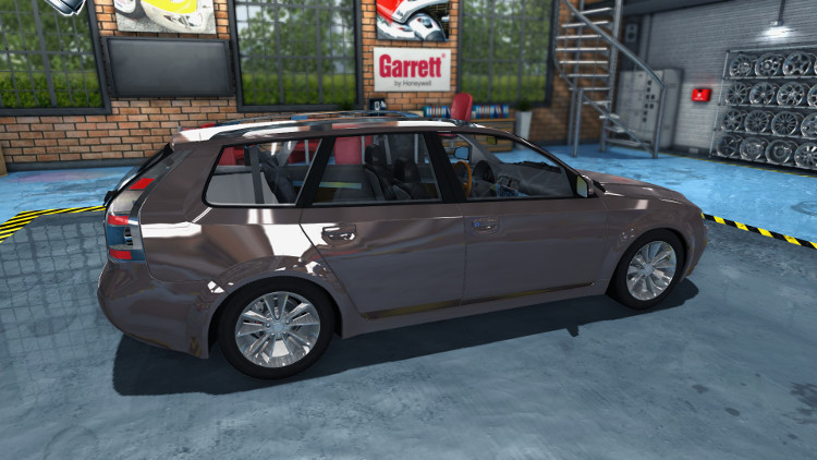 Here is a side view of the Mayen M6 from Car Mechanic Simulator 2015 after the rebuild. It's a nice shiny car... now!