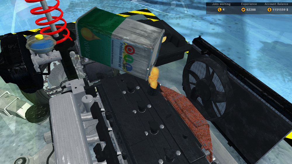 Car mechanic simulator 2015 can change oil draining