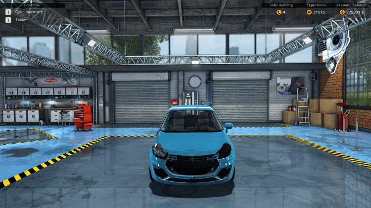 In this frontal view of the Royale Bianco from Car Mechanic Simulator 2015, only minor problems with the body are visible.