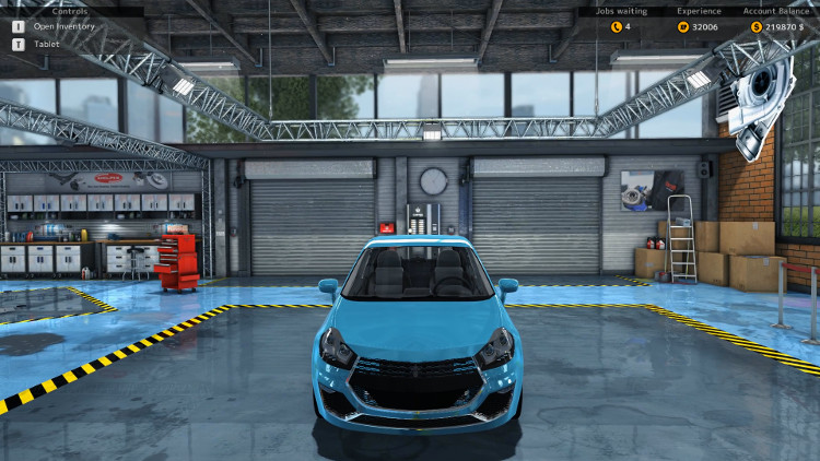 The Royale Binaco from Car Mechanic Simulator 2015 shines in this Frontal View of the car once it has been fully rebuilt.