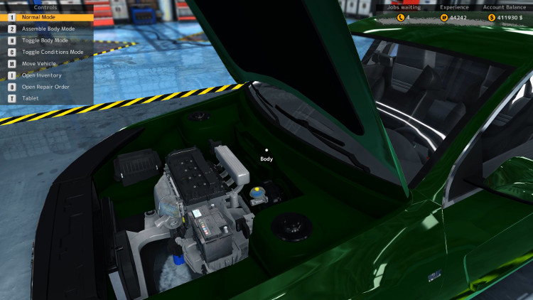 Here we have the engine compartment view of the Royale Crown after a complete rebuild in Car Mechanic Simulator 2015.