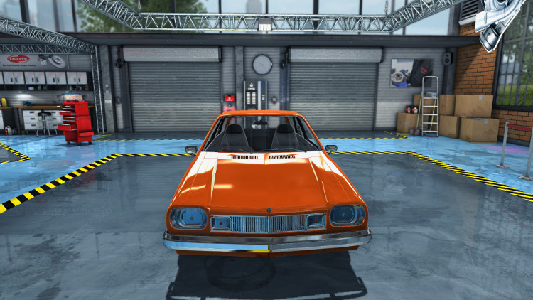 In this engine compartment view of the Salem Flamo from Car Mechanic Simulator 2015 before rebuild, it is clear that several of the engine components are badly rusted.