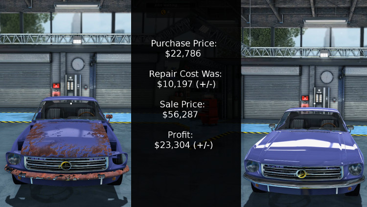 Here we have a breakdown of the cost vs profit for rebuilding this Salem Spectre Fastback from Car Mechanic Simulator 2015.