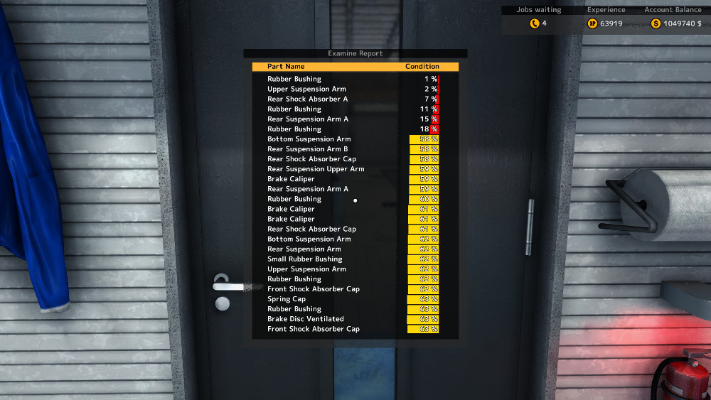 Here we have the results of running a vehicle through the Path Test in Car Mechanic Simulator 2015.